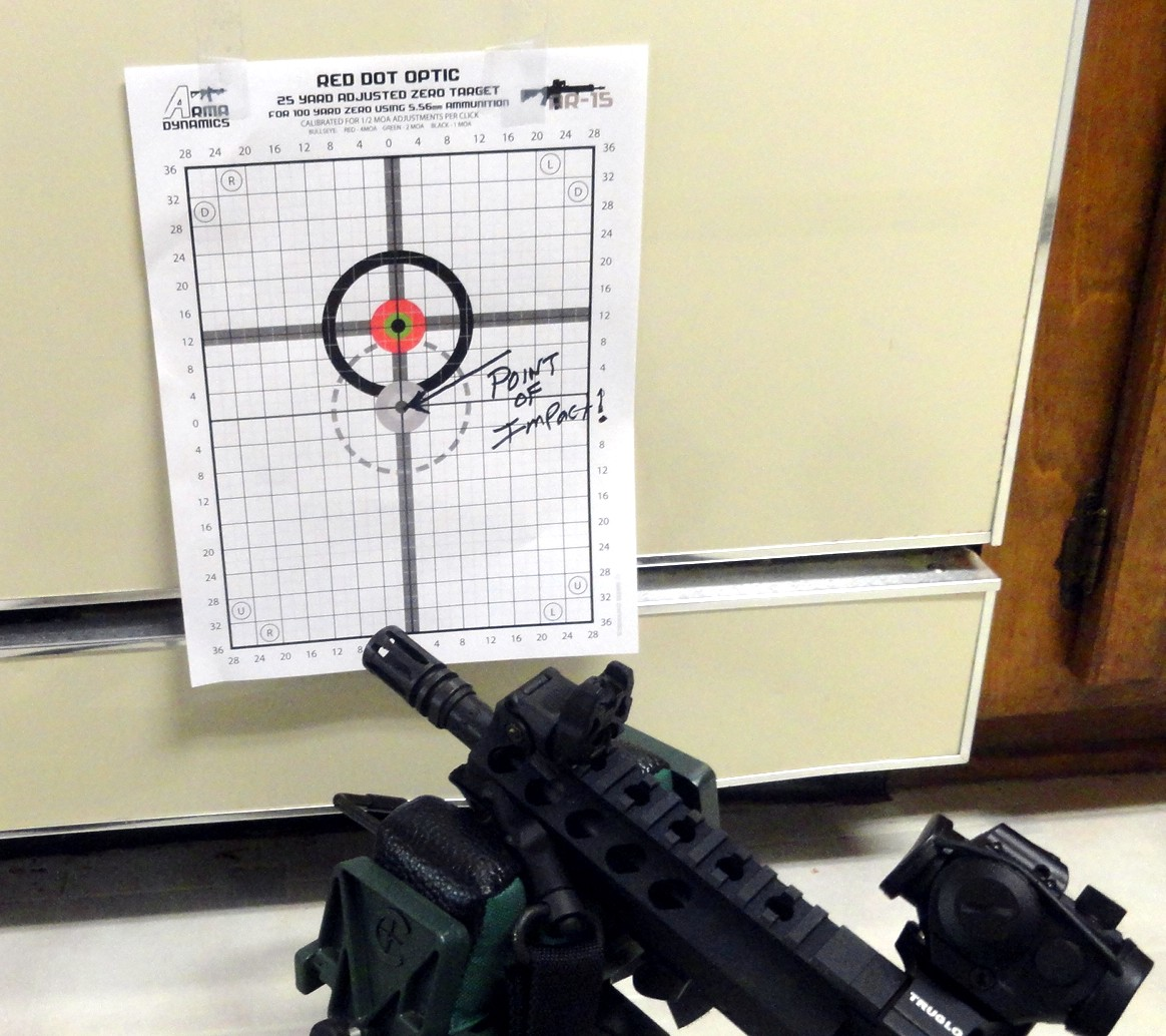photograph about Ar15 25 Yard Zero Target Printable called Fightlite \