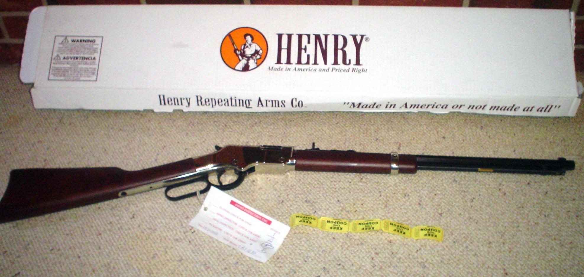 Henry Golden Boy Rifle 22lr Silver