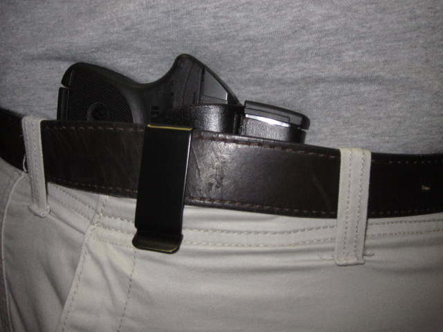 Kusiak Leather IWB Holster w/extra mag  holder for LCP w